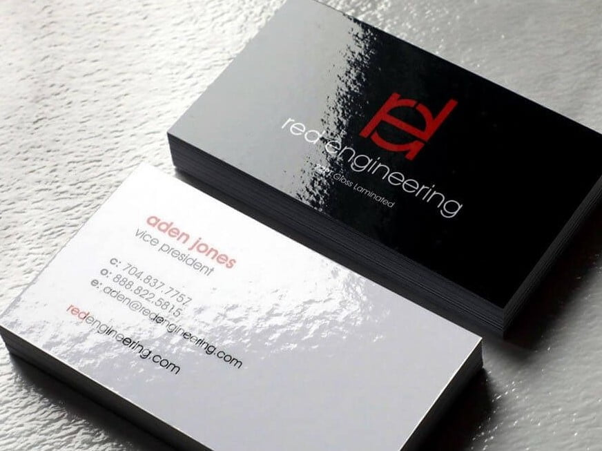 Laminated Business Cards Main Pic